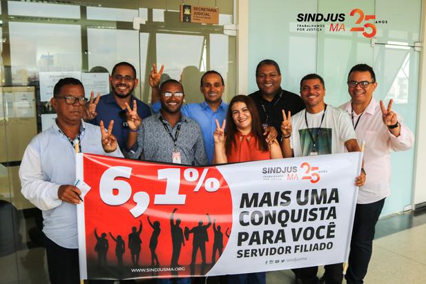 O pedido de cumprimento de sentença refere-se à ação de cobrança de diferença salarial de 6,1% em favor dos servidores sindicalizados ao Sindjus-MA