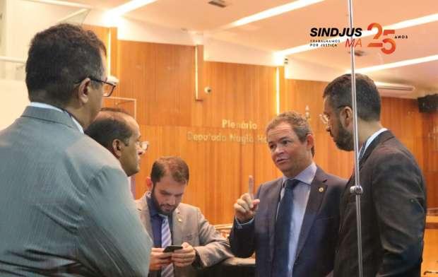 O Líder do Governo na Assembleia, deputado Rafael Leitoa (PDT), informou aos diretores que o PL 018/2019 deve entrar em pauta na próxima semana, e que a SEPLAN já está à par das informações prestadas pelo TJMA