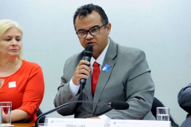 Aníbal Lins representou a CSPB, NCST e o Sindjus-MA nos debates. Foto: Cleia Viana/Câmara dos Deputados