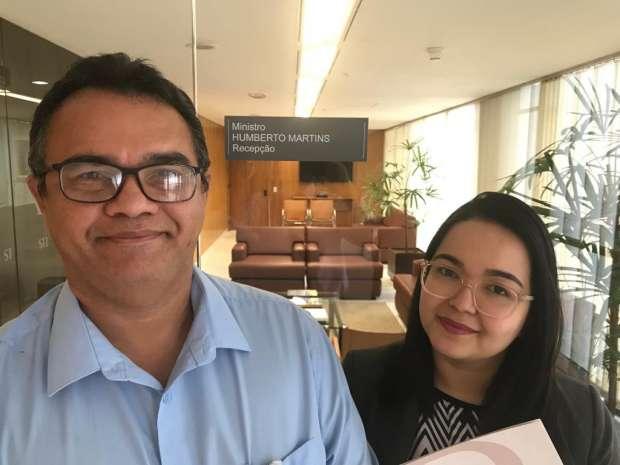 Anibal Lins e a advogada Yasmim Yogo na Corregedoria do CNJ