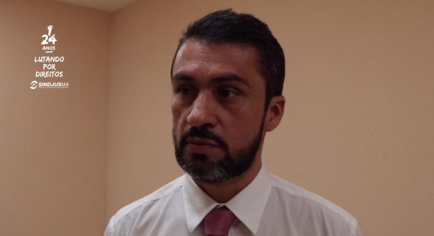 Secretário-geral do Sindjus-MA, Márcio Luís Andrade Souza