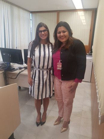 A juíza auxiliar da Corregedoria Nacional de Justiça, Cláudia Sílvia de Andrade Freitas, e a advogada Danielle Xavier
