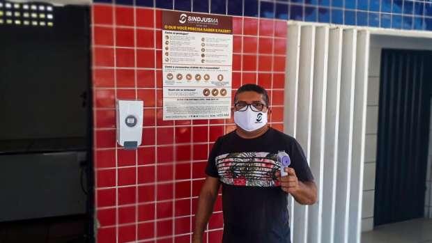 A sede social do Sindjus-MA em Imperatriz também recebeu ajustes para atender às normas sanitárias