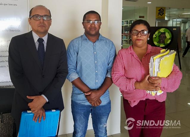 Dr. Pedro Duailibe Mascarenhas, o vice-presidente do Sindjus-MA, George Ferreira, e Drª Doriana Camello
