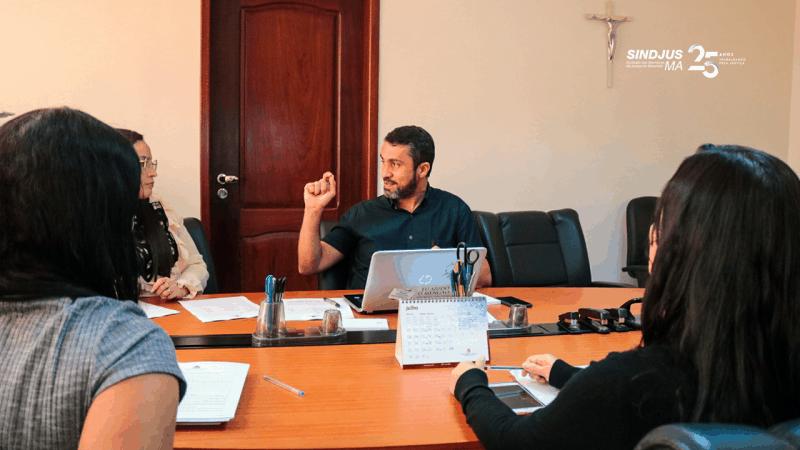 Secretário-geral do Sindjus-MA, Márcio Luís Andrade, durante reunião da Comissão de Gestão do Teletrabalho do Tribunal de Justiça do Maranhão (TJMA)