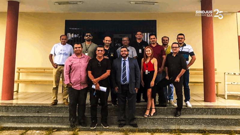 Presidente do Sindjus-MA, Aníbal Lins, se reuniu com servidores de Araioses para discutir pautas